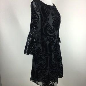Eliza J Dresses - Eliza J burnout velvet fit & flare dress Sz 14